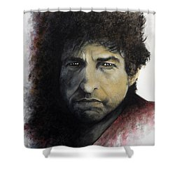 Gotta Serve Somebody - Dylan Shower Curtain by William Walts