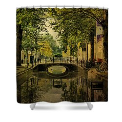 Shower Curtain featuring the photograph Gouda In Vintage Look by Annie Snel