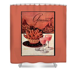 Gourmet Cover Featuring A Basket Of Potato Curls Shower Curtain