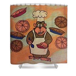 Gourmet Gorilla  Shower Curtain by Christy Saunders Church