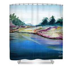 Gowrie Creek Spring Shower Curtain by Therese Alcorn