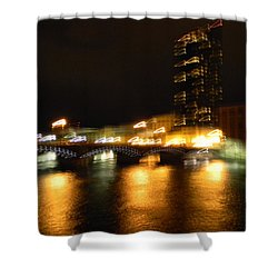 G.r. Grand River Glow Shower Curtain