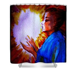 Shower Curtain featuring the painting Grace - 1 by Leanne Seymour