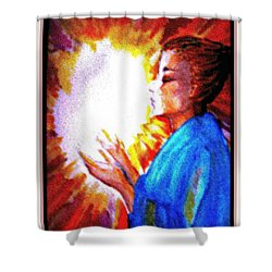 Shower Curtain featuring the painting Grace - 2 by Leanne Seymour