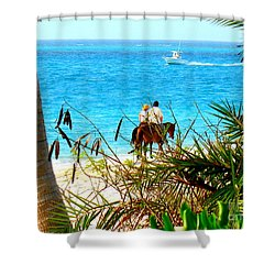 Shower Curtain featuring the photograph Grace Bay Riding by Patti Whitten