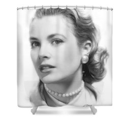 Grace Kelly Pencil Shower Curtain
