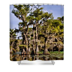 Grace Of Caddo Shower Curtain by Lana Trussell