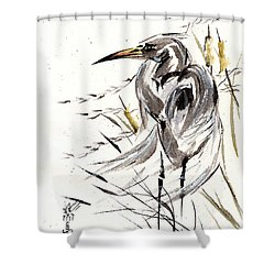 Grace Of Solitude Shower Curtain by Bill Searle