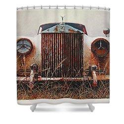Grace - Rolls Royce Shower Curtain by Blue Sky