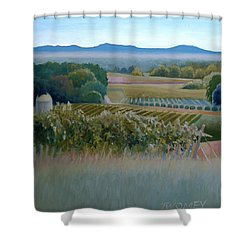 Grace Vineyards No. 1 Shower Curtain by Catherine Twomey