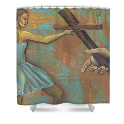 'grace Was Given' Shower Curtain