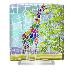 Shower Curtain featuring the painting Graceful by Anthony Mwangi