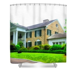 Graceland Mansion Shower Curtain by Dan Sproul