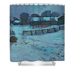 Grady Road Farm Shower Curtain by Phil Chadwick
