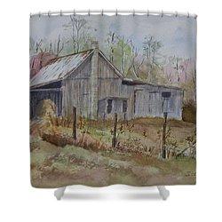Grady's Barn Shower Curtain by Janet Felts