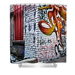 Graffiti Alley Shower Curtain