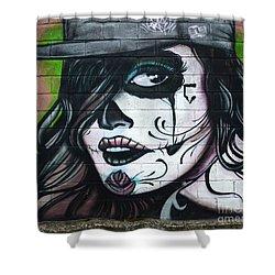 Graffiti Art Curitiba Brazil 21 Shower Curtain by Bob Christopher