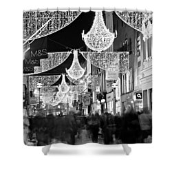 Shower Curtain featuring the photograph Grafton Street At Christmas / Dublin by Barry O Carroll