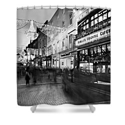 Shower Curtain featuring the photograph Grafton Street At Night / Dublin by Barry O Carroll