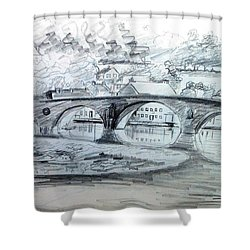 Graignamanagh Bridge River Barrow  Kilkenny Ireland  Shower Curtain