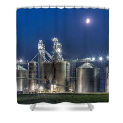 Grain Processing Plant Shower Curtain by Paul Freidlund