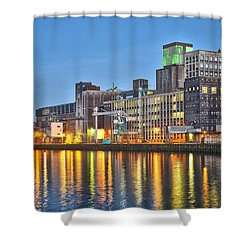 Grain Silo Rotterdam Shower Curtain