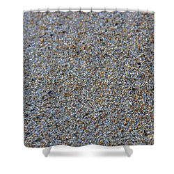 Grainy Sand Shower Curtain by Michael Mooney
