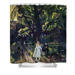 Gramercy Park Shower Curtain by George Wesley Bellows
