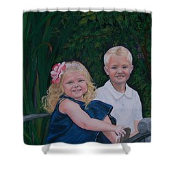 Grampa And Gramma's Joy  Shower Curtain by Sharon Duguay