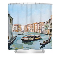 Grand Canal 2 Shower Curtain by Filip Mihail