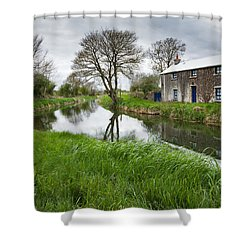 Grand Canal At Miltown Shower Curtain by Ian Middleton