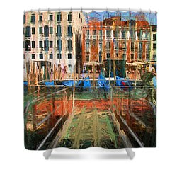 Shower Curtain featuring the photograph Grand Canal Venice by Jack Torcello
