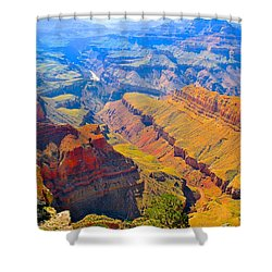 Grand Canyon In Vivid Color Shower Curtain
