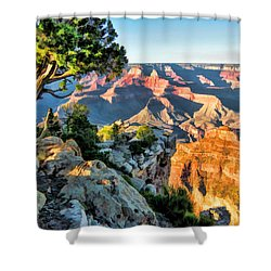 Grand Canyon Ledge Shower Curtain by Christopher Arndt