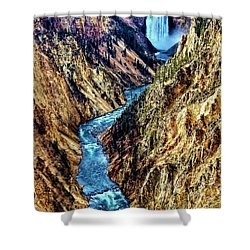 Shower Curtain featuring the photograph Grand Canyon Of The Yellowstone by Benjamin Yeager