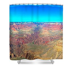 Grand Canyon Panorama Shower Curtain by Penny Lisowski
