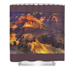 Grand Canyon - Sunrise Adagio - 1b Shower Curtain by Michael Mazaika