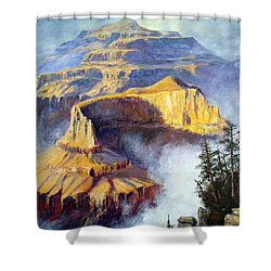 Grand Canyon View Shower Curtain by Lee Piper