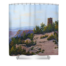Grand Canyon Watchtower Shower Curtain