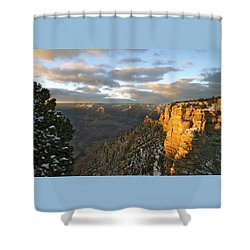 Grand Canyon. Winter Sunset Shower Curtain by Ben and Raisa Gertsberg