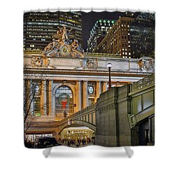 Grand Central Nocturnal Shower Curtain by Jeffrey Friedkin