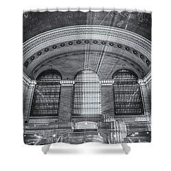 Grand Central Station Bw Shower Curtain by Susan Candelario