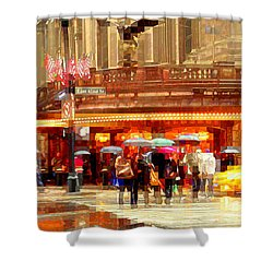 Grand Central Station In The Rain - New York Shower Curtain