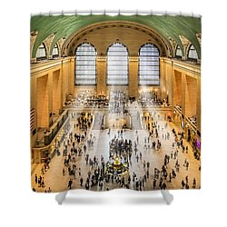 Grand Central Terminal Birds Eye View I Shower Curtain