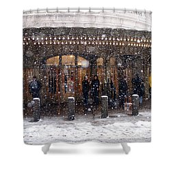 Grand Central Terminal Snow Color Shower Curtain