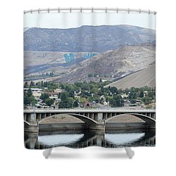 Grand Coulee Dam And Coulee City Shower Curtain by E Faithe Lester