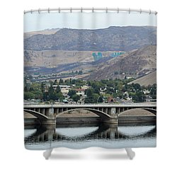 Grand Coulee Dam  Shower Curtain by E Faithe Lester