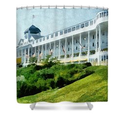 Grand Hotel Mackinac Island Ll Shower Curtain by Michelle Calkins