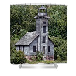 Grand Island East Channel Lighthouse Shower Curtain by George Jones