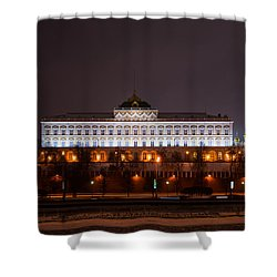 Grand Kremlin Palace At Night Shower Curtain by Alexander Senin